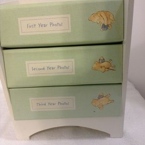 WINNIE THE POOH MINI BOOKCASE BABY PHOTO ALBUMS